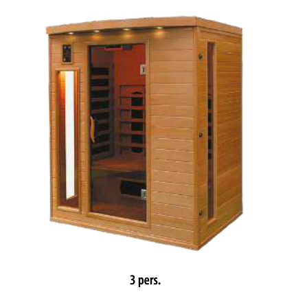 Sauna infrarouge 3pers.