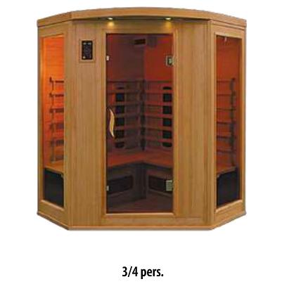 Sauna infrarouge 3/4pers.